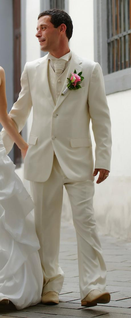 kremovy oblek, , 46
