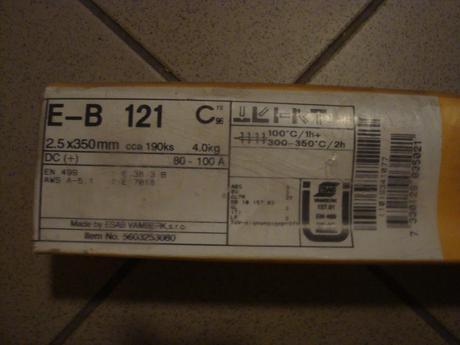Elektrody ESAB E-B 121, 2,5x35 mm,