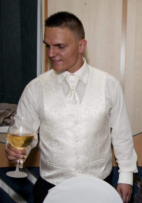svadobná vesta,francúzska kravata a košeľa, 40