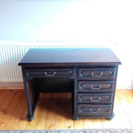 stôl rustikálny písací, masív,