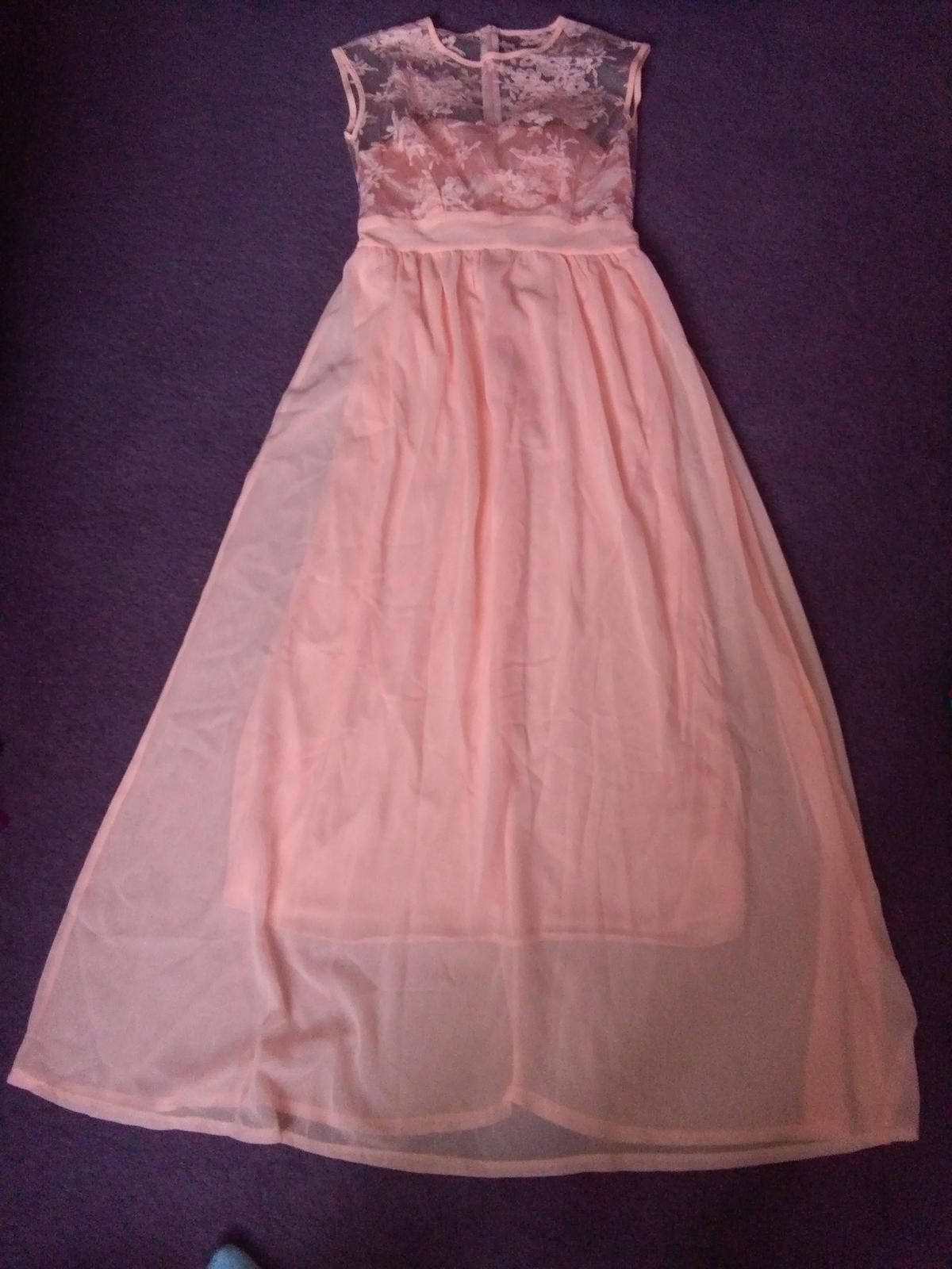 Společenské plesové šaty neonové oranžové 91e8678e729
