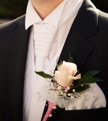 Svadobna vesta, kravata, kosela, 50