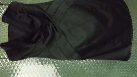 čierne koktailové šaty + topanky, 36