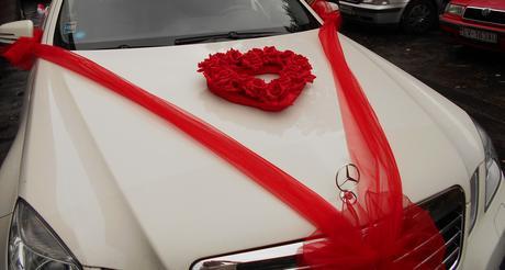 Srdce na svadobné auto,
