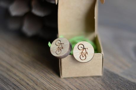 Dřevěné manžetové knoflíčky,