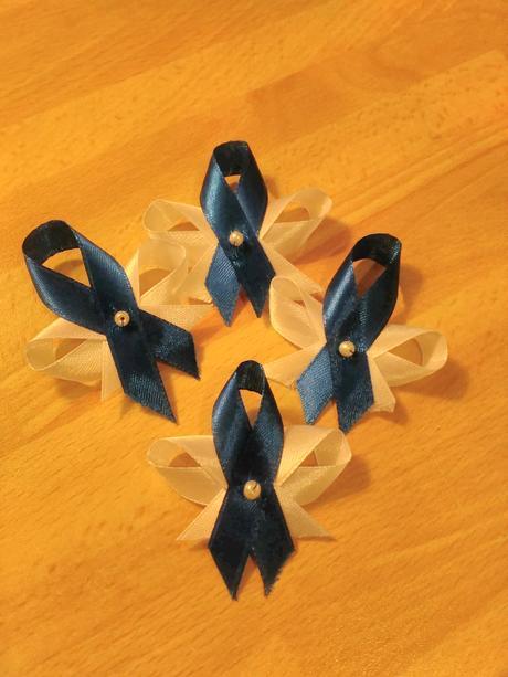 Vývazky - námořnická modř,