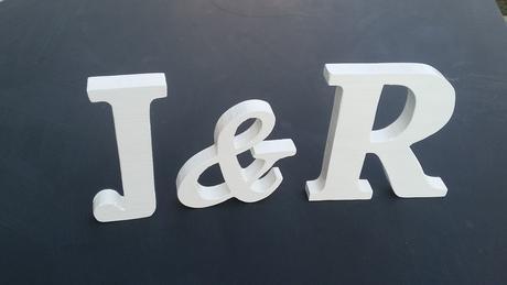 Dřevěná písmena - dekorace,