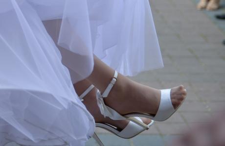 Svadobné topánky s mašličkami, 36