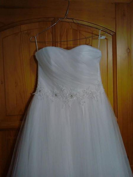 e73d391153a5 Tylové svadobné šaty xs-s (34-36) + závoj