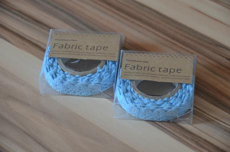 2x samolepící bavlněná krajka - modrá,