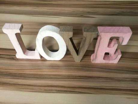 Romantická písmena love,