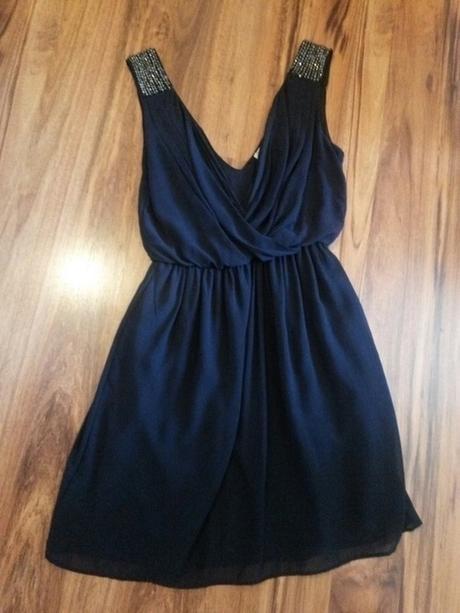 Tmavě modré antické šaty ZARA, 34
