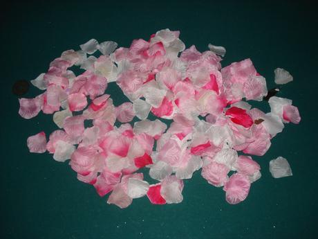 Hromada plátků růží,