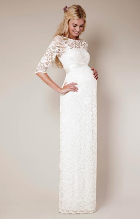 Těhotenské svatební šaty Tiffany Rose - Amelia, 38