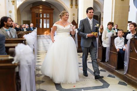 Princeznovské svatební šaty, satén + tyl, 42