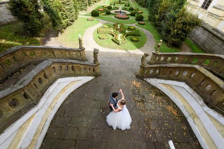 Princeznovské svatební šaty, satén + tyl, 44