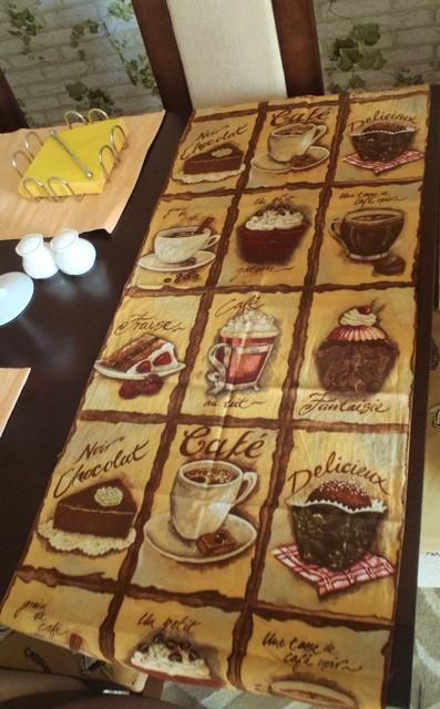2 x kávičkový behúň na stôl,