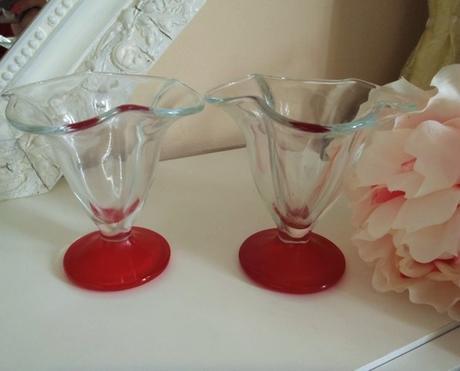 2 x sklenený pohár na puding,