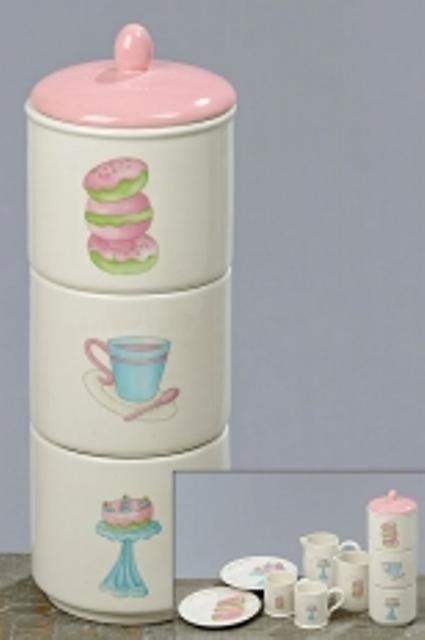 3 poschodová keramická dóza cake,