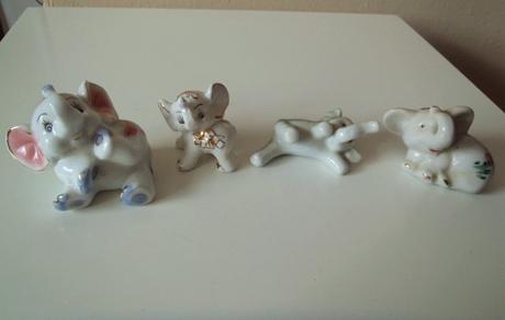 4 x keramický sloník-cena spolu,