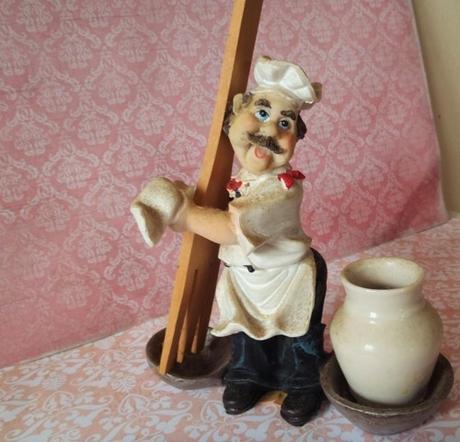dekorácia kuchár s vareškou,
