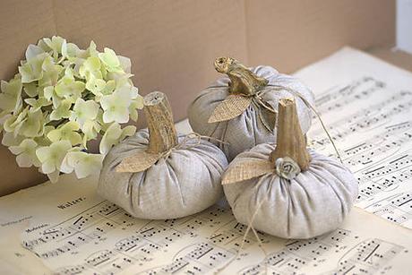 jesenná dekorácia-shabby tekvičky 3 kusy,
