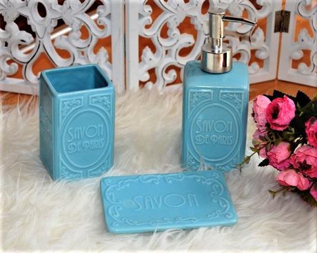 keramická kúpeľňová súprava-savon,