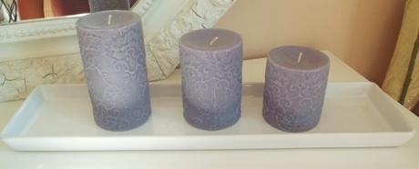 keramický biely podnos na sviečky,