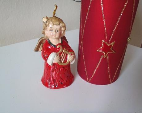 keramický zvonček-anjelik,