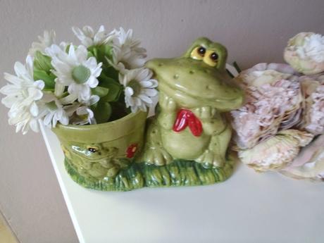 kvetináč žaba,