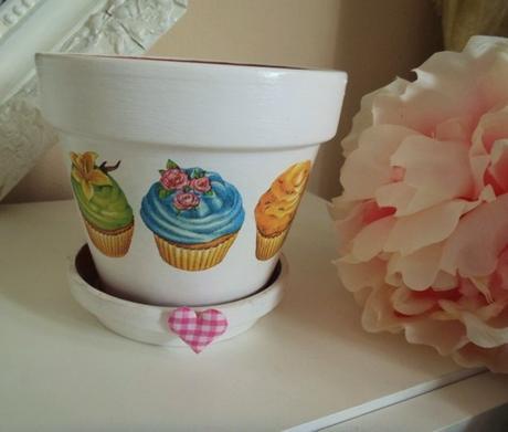 muffinkový kvetináč,