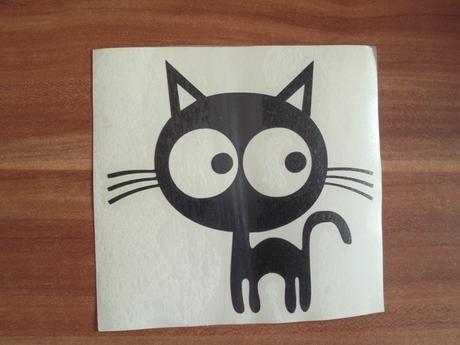 nálepka na nábytok mačička,
