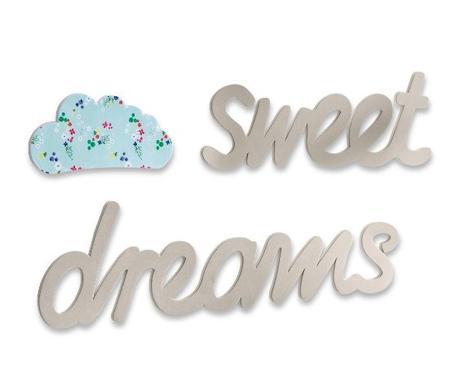 nápis na stenu sweet dreams aj s obláčikom,