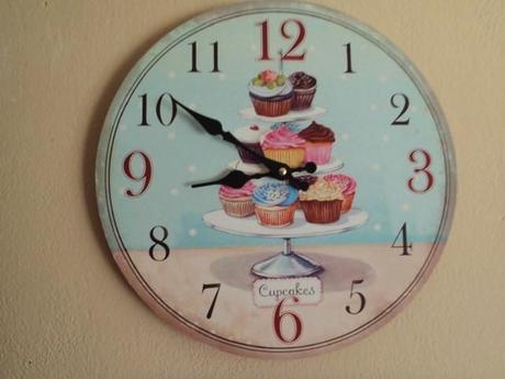 nástenné hodiny-muffin,