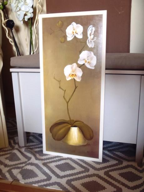 ručne maľovaný obraz orchidea,