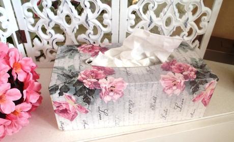 ružičkový box na servítky,