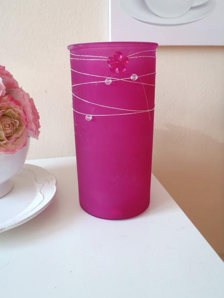 ružová váza,