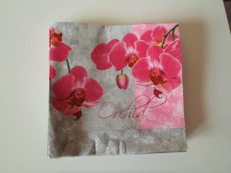 servítky orchidea,