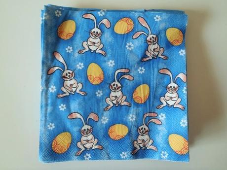 servítky veľkonočný zajkovia,