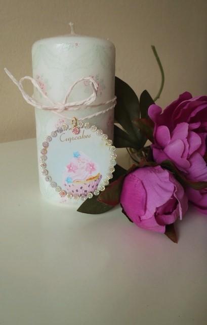 sviečka cupcake,