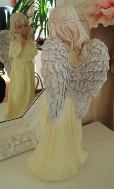 vysoký keramický anjel-37cm,