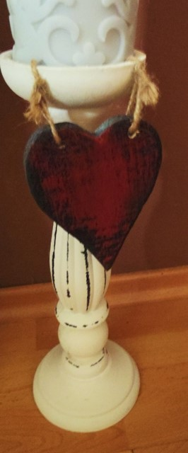 závesné drevené vintage srdce,