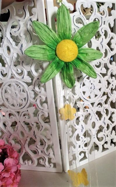 zelená girlanda-kvet,