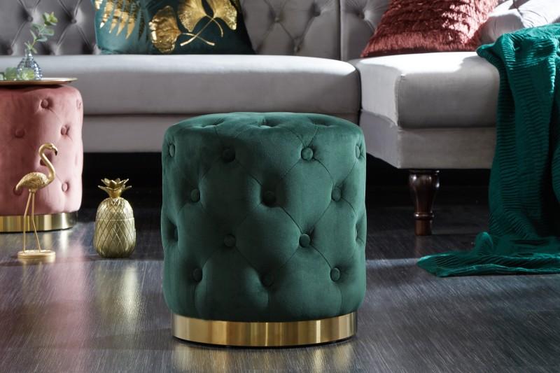 83802df9ac80 Taburet modern barock smaragd