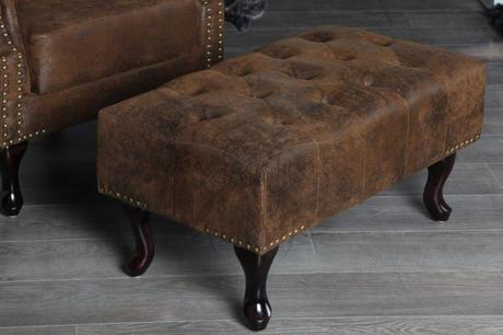 Chesterfield Stool Vintage,