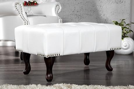 Chesterfield Stool white,