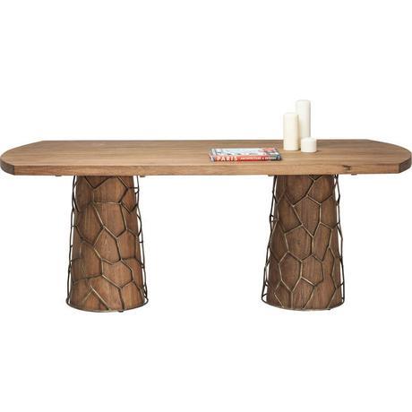 Jedálenský stôl Mesh Brass,