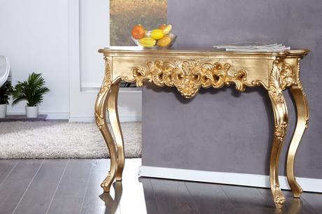 Konzola Venice Gold L,