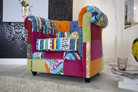 Kreslo Chesterfield Patchwork,