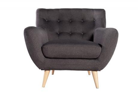 Kreslo Sofa Retro Antracit,